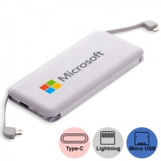 8000mah Powerbank with In-Built Type C / Micro / Lightning