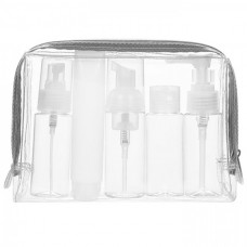 Travel Bottles Kit in PVC Toiletries Pouch (Airline Approved Capacity)
