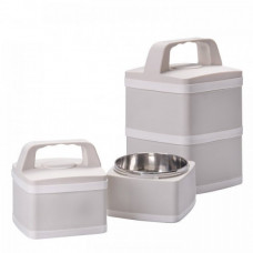 Duo-Tier Stainless Steel Lunch Box