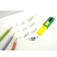PVC-free Eraser With Sliding Plastic Sleeves