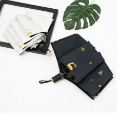 Gold Deer Folding Umbrella